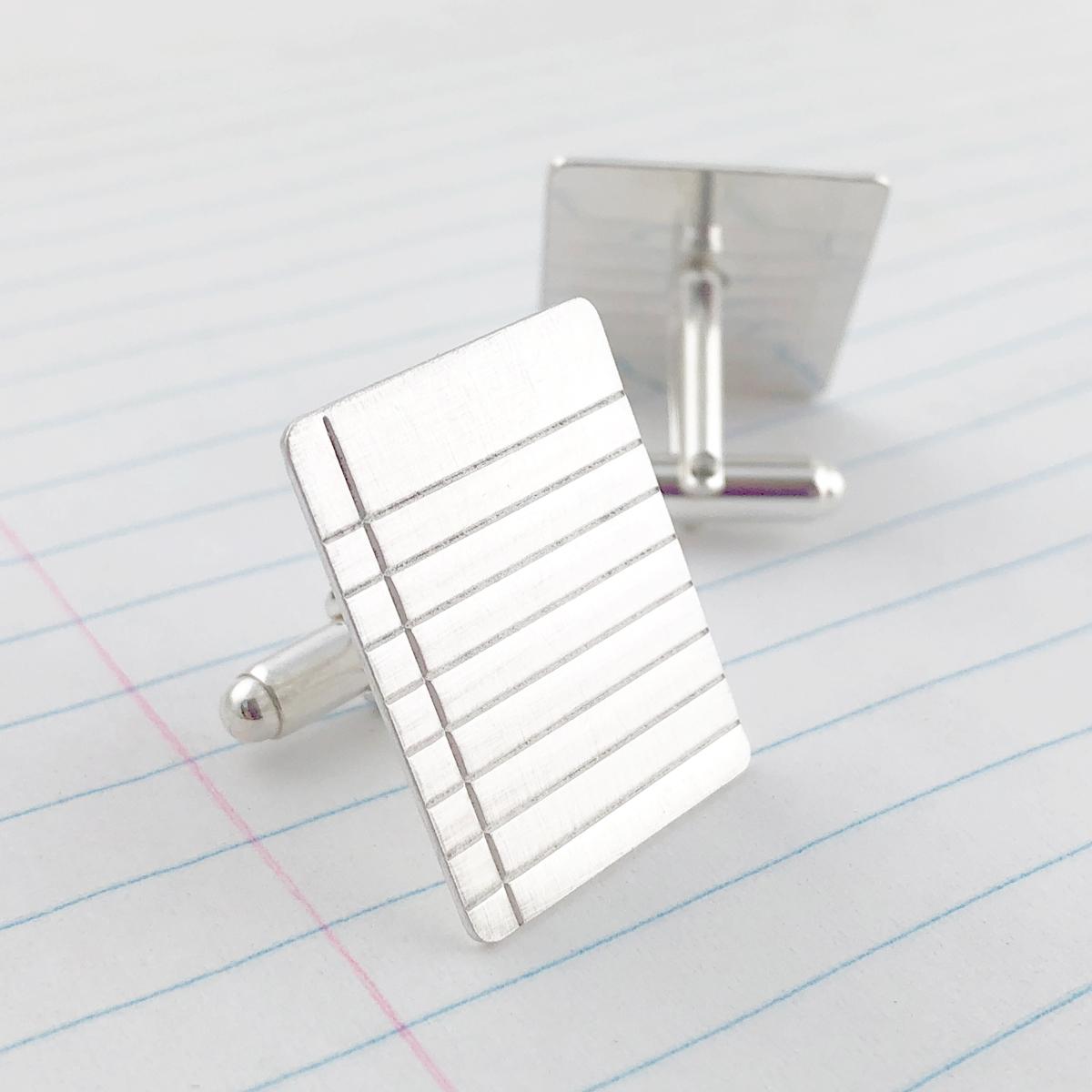 Binder Paper Cuff Links